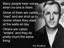 ray bradbury hearing voices