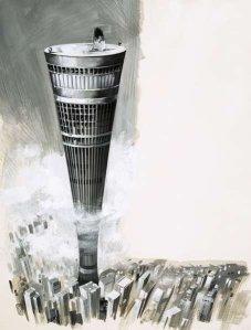 futuristic skyscraper