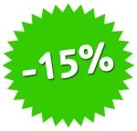 minus 15 percent
