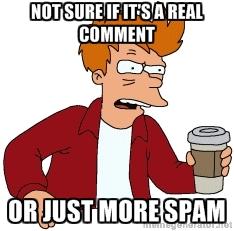 futurama comment spam
