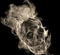 smoking skull popista
