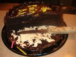 half eaten birthday cake
