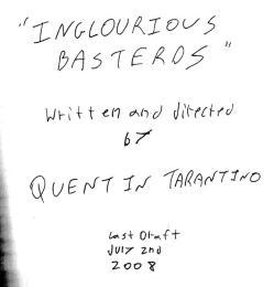 inglourious basterds tarantino script