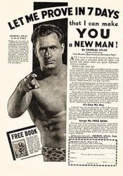 Charles Atlas muscle man advert