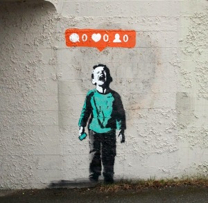 Social media graffiti art by Iloveto