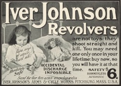 Vintage Iver Johnson revolver advert safe for children